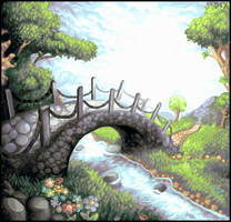 Bridge to Eden by afergusonart