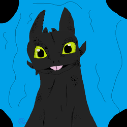 Toothless MS paint by SweetCitrine