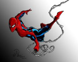 Spidey Swinging Colors by ConstantScribbles