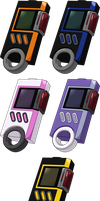 Digimon Savers/Story - Digivice Burst HD + Lines by NelaNequin