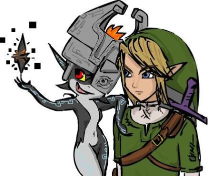 Link and Midna by Veenus91
