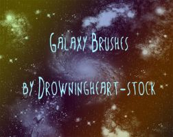 galaxy brushes by drowningheart-stock
