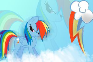 Rainbow Dash in da clouds by Spartan19