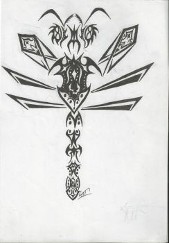 Tribal Dragonfly by wapond