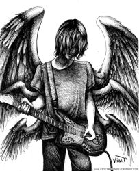 Angel Wings n' Guitar Strings (lines) by VineTabris