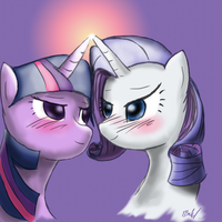 Twilight x Rarity by reltyxart