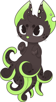 Ink Cat 2.0 - Squiddly Kitten by Smallblacksticky