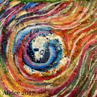 Painted Melted-Crayon Vortex by AliDee33