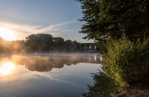Misty Sunrise At The Obersee by M-M-F