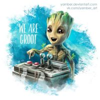 Baby Groot by Yamber