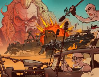 Fury Road Spread by blitzcadet