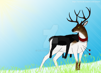 Eden the Buck (with wolf hide) by Xein000