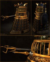 Steampunk Dalek (collage) by the-least