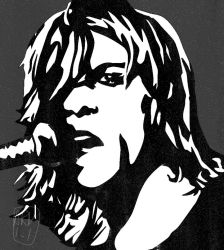 Kurt Cobain / Experimenting with art style by ARandomUserl-l