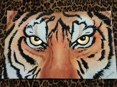 Tiger Painting by aphrodezecat