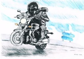 Motorcyclist by CutePigTail
