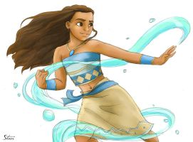 Moana the Waterbender by RiverCreek