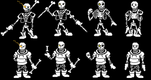 V2 Inverted Fate Sans And Papyrus Battle Sprites By