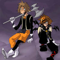 HT Tidus and Sora by General-RADIX