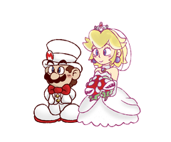 A 1-UP boy and a 1-UP girl by WhicheverComa