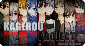 KAGEROU PROJECT_Mekakushi Dan [coloring only] by DeanaHere