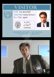 X-files mulder hospital badge S2 by moviecard