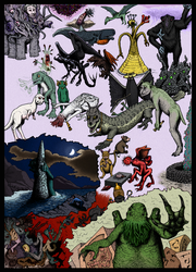 All Things Lovecraftian (in color) by electreel