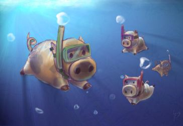 ...and pigs can swim by gabo-the-baka