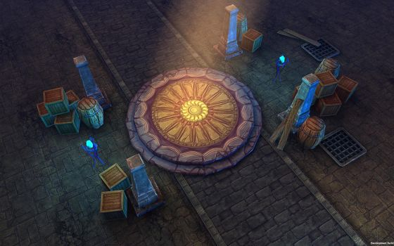 3d Dungeon Assets - Very Low Poly (mobile) by brainchilds