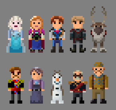 Frozen Characters Collection by LustriousCharming