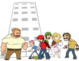 the mushroom kingdom by the-slift