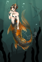 Spooky Koi Mermaid [CLOSED] by Rumiiya