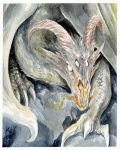 Dragon watercolour postcard