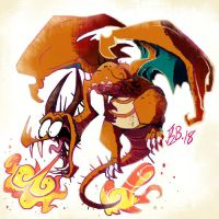 #006 Charizard by Skelizard
