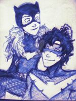 DC: Dick and Babs by Shenbug