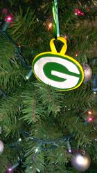 Polymer Clay Green Bay Packers Ornament - (1B) by LostGryphin