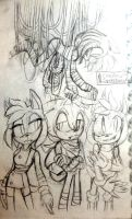 Sonic sketches by CeruleanSpeedster