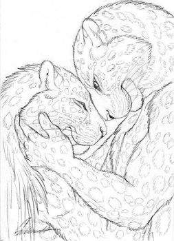 Cuddly Couples - Amur Leopards by Goldenwolf