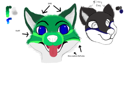 Furry Head Practice by CrazyMates2300