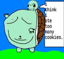 squirtle eating cookies by Epic-Oddish123