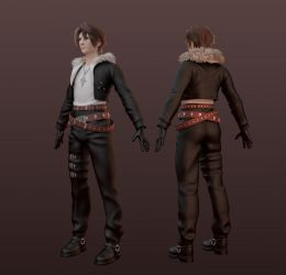 Squall Leonheart full body by Shunsquall