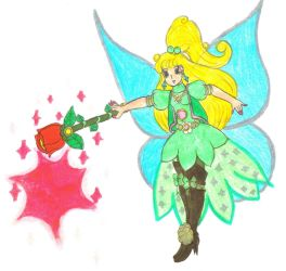 Tinkerbell using her Rose Wand by Winter-Colorful