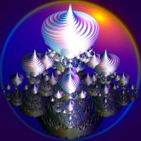 shiny violet 3D swirls by Andrea1981G