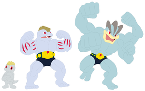 Machop, Machoke and Machamp Base
