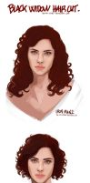 Marvel - Black Widow hairdress by the-evil-legacy