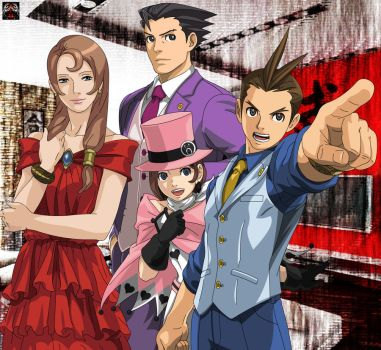 Ace Attorney - Family by Xpand-Your-Mind