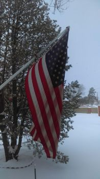 Snow in Roswell, New Mexico - USA by JhawkR2010