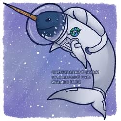 space narwhal [on redbubble] by GirlWithTheGreenHat