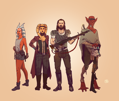 Crew of the Ion Wolf by Ryan-Rhodes