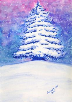One snowy tree by CosySister